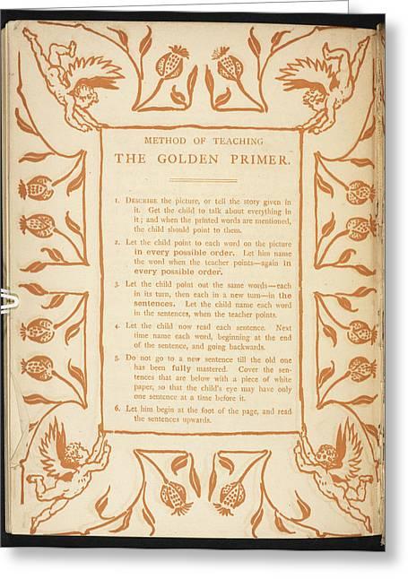 Method Of Teaching. The Golden Primer Greeting Card