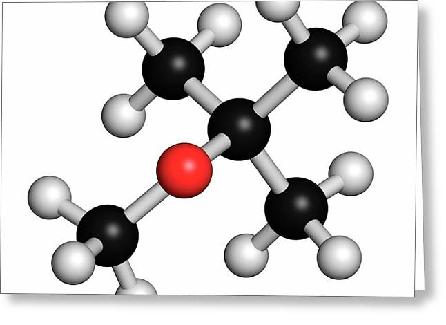 Methyl Tert-butyl Ether Molecule Greeting Card by Molekuul