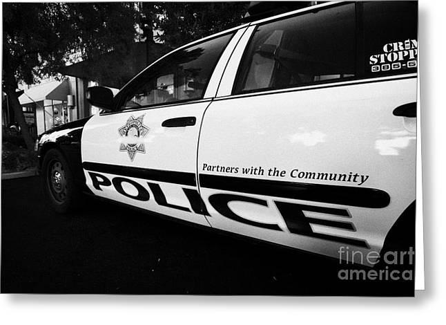 metro metropolitan police squad patrol police car Las Vegas Nevada USA Greeting Card