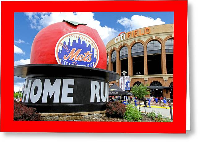 Mets Home Run Apple Greeting Card