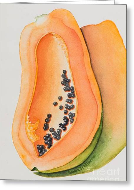 Mexican Papaya Greeting Card