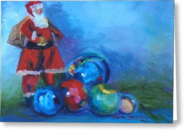 Mexico Santa  Greeting Card by Carol Berning