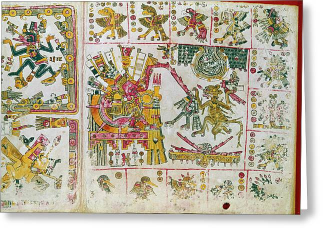 Mexico Sun God, C1450 Greeting Card