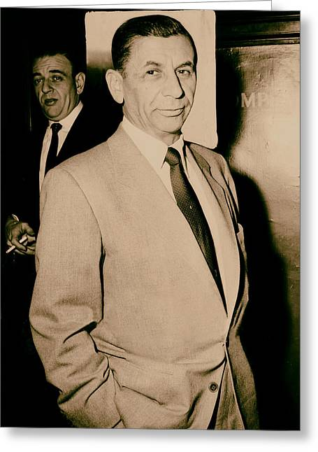 Meyer Lansky - The Mob's Accountant 1957 Greeting Card