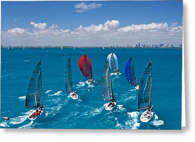 Miami Horizon Greeting Card by Steven Lapkin