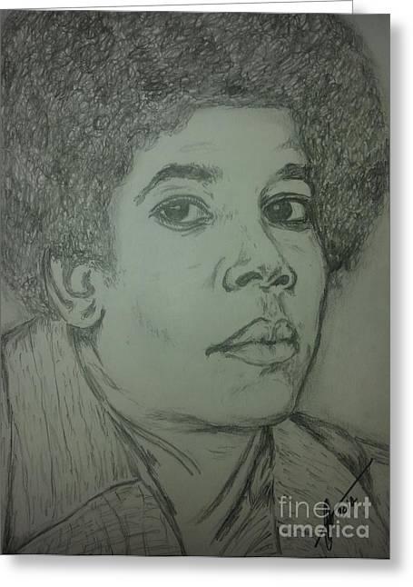 Michael Jackson Art Greeting Card by Collin A Clarke