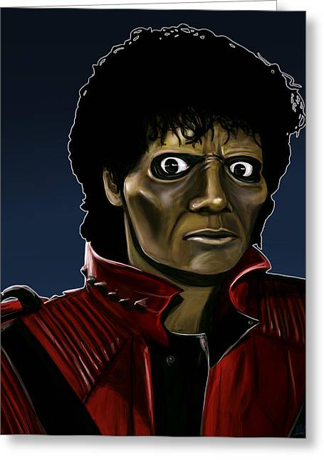 Michael Jackson Thriller Greeting Card