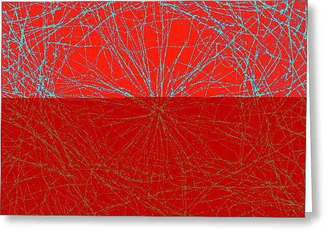 Microtubules Greeting Card by Ammrf, University Of Sydney