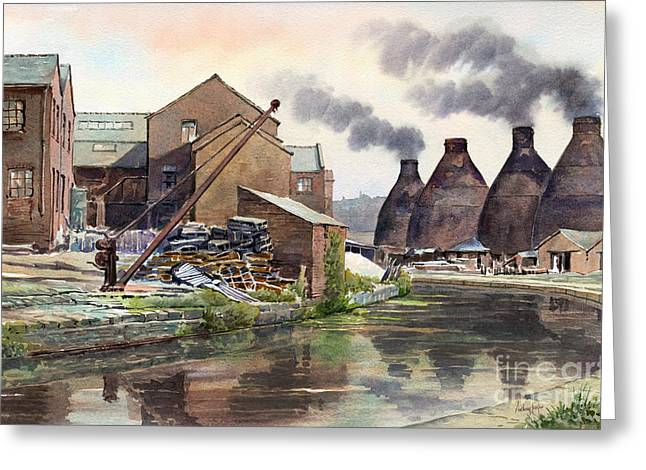 Middleport Pottery Greeting Card by Anthony Forster