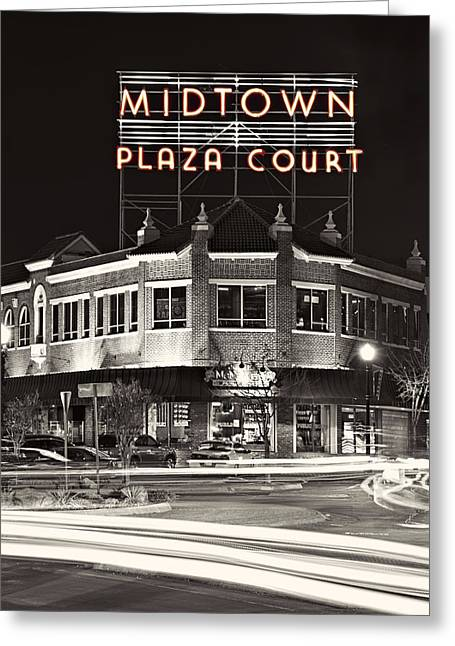 Midtown Plaza Greeting Card by Ricky Barnard