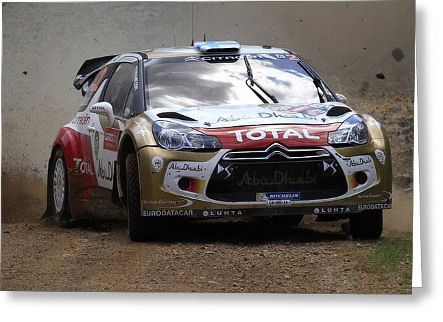 Mikko Hirvonen Fia World Rally Championship Australia Greeting Card