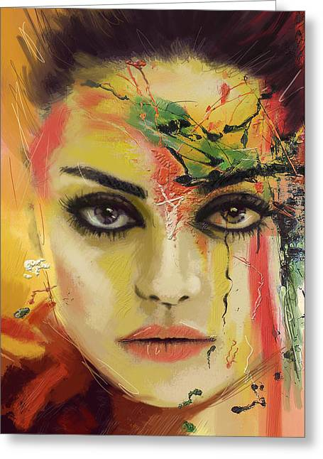 Mila Kunis  Greeting Card by Corporate Art Task Force