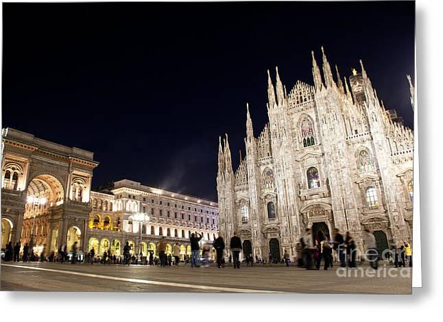Milan Cathedral Vittorio Emanuele II Gallery Italy Greeting Card by Michal Bednarek