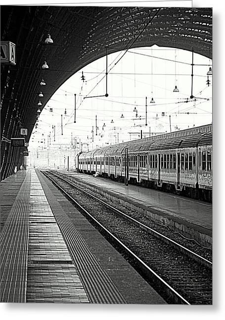 Milan Central Station Greeting Card by Valentino Visentini
