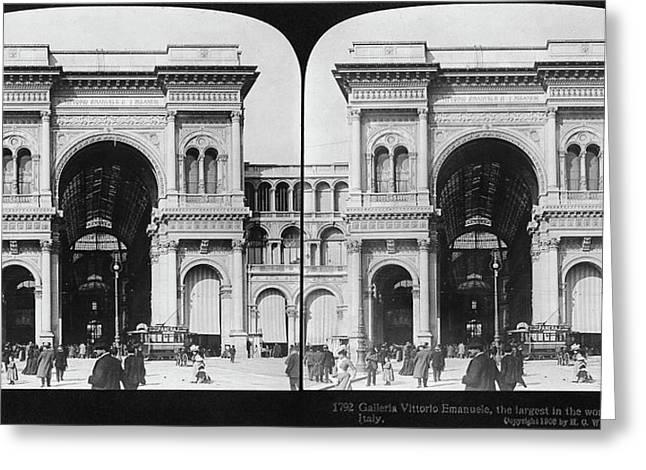 Milan Galleria, 1908 Greeting Card
