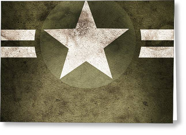 Military Army Star Background Greeting Card