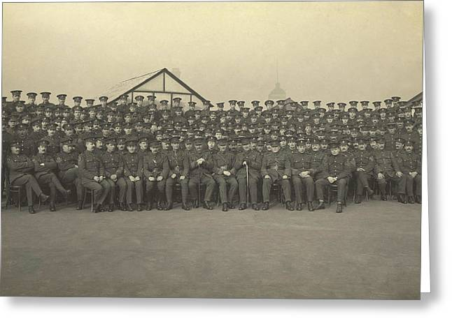 Military Officers On The Roof Of King Greeting Card