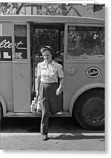Milkman, 1943 Greeting Card