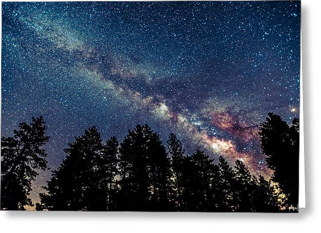 Milky Way Greeting Card by Abe Blair