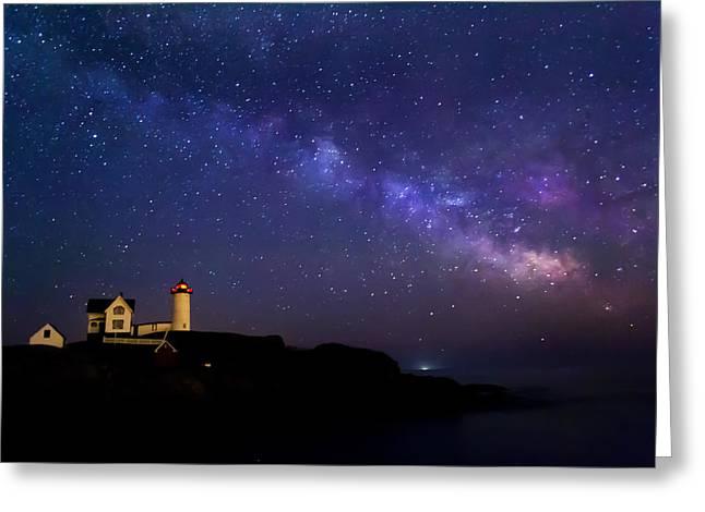 Milky Way Greeting Card by Jatinkumar Thakkar