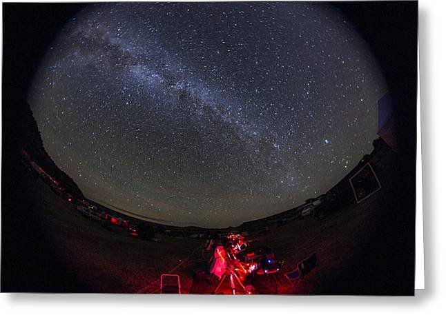 Milky Way, Okie-tex Star Party, Fisheye Greeting Card