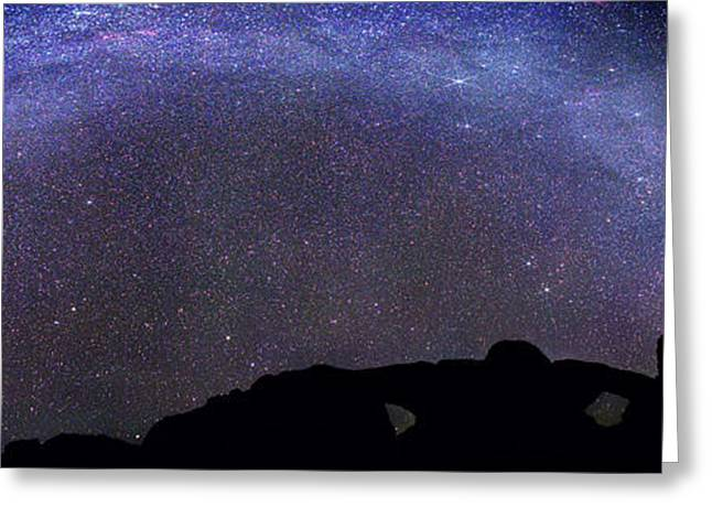 Milky Way Over Arches National Park Greeting Card by Walter Pacholka, Astropics
