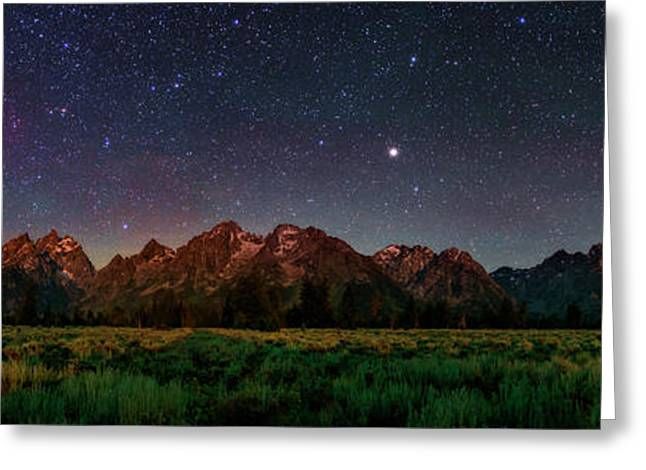 Milky Way Over Grand Teton National Park Greeting Card by Babak Tafreshi