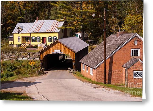 Mill Covered Bridge. Greeting Card