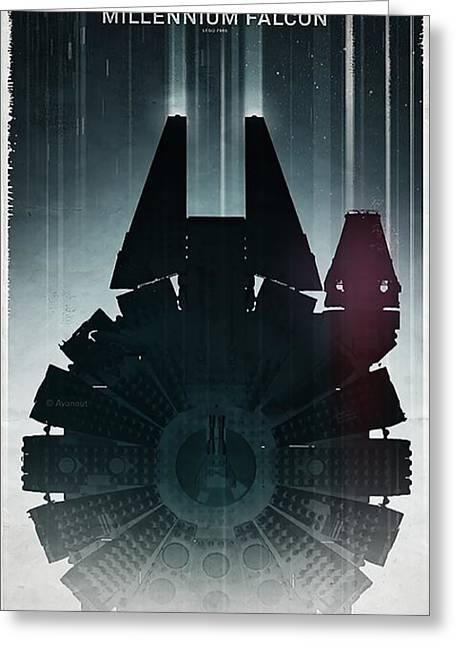 Millennium Falcon Greeting Card