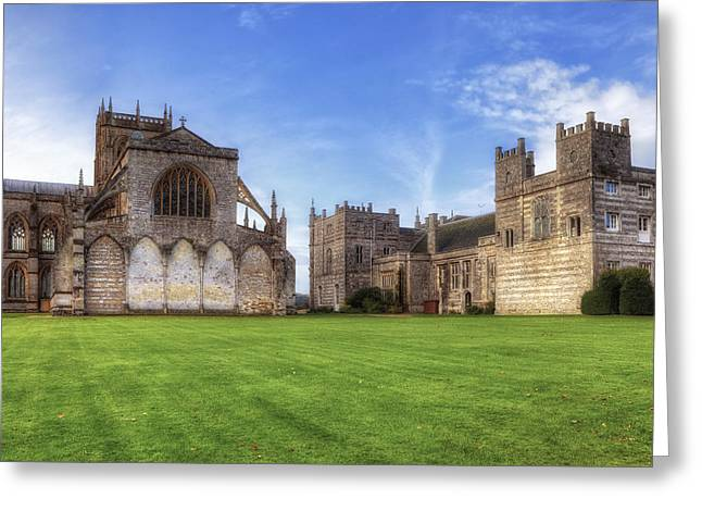 Milton Abbey Greeting Card by Joana Kruse