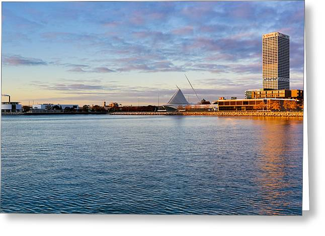 Greeting Card featuring the photograph Milwaukee At Sunrise by Ricky L Jones