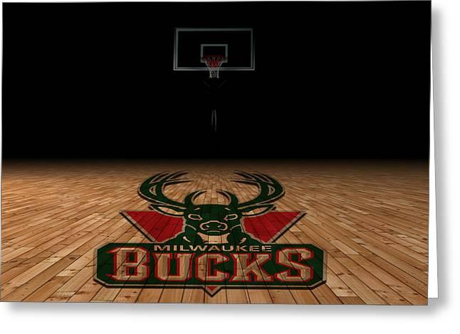 Milwaukee Bucks Greeting Card by Joe Hamilton