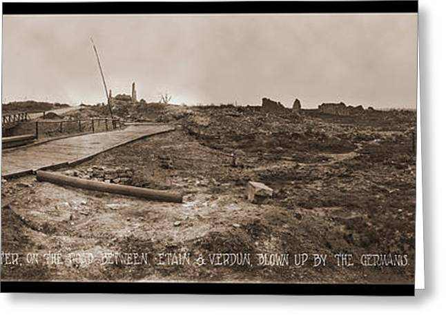 Mine Crater, On The Road Between, Etain Greeting Card