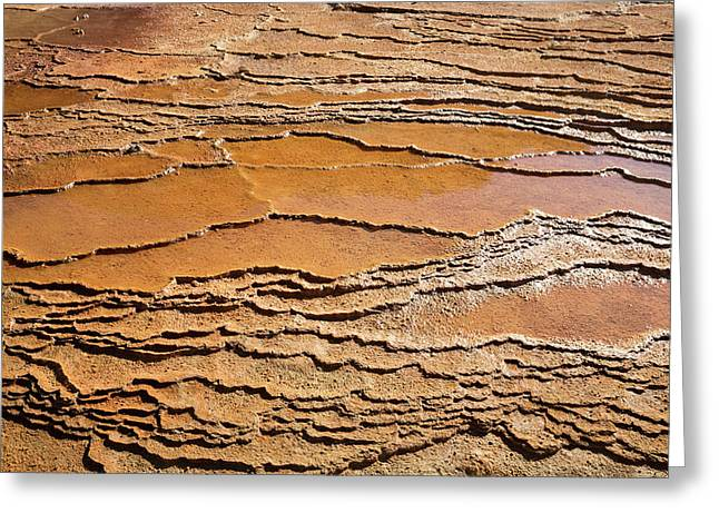 Mineral Terraces At Crystal Geyser Greeting Card by Jim West