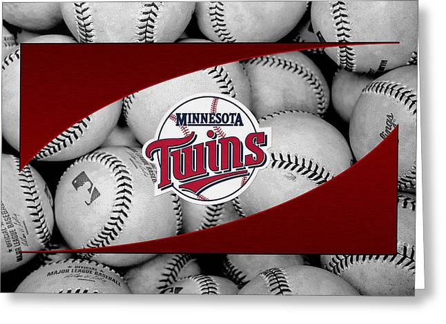 Minnesota Twins Greeting Card by Joe Hamilton