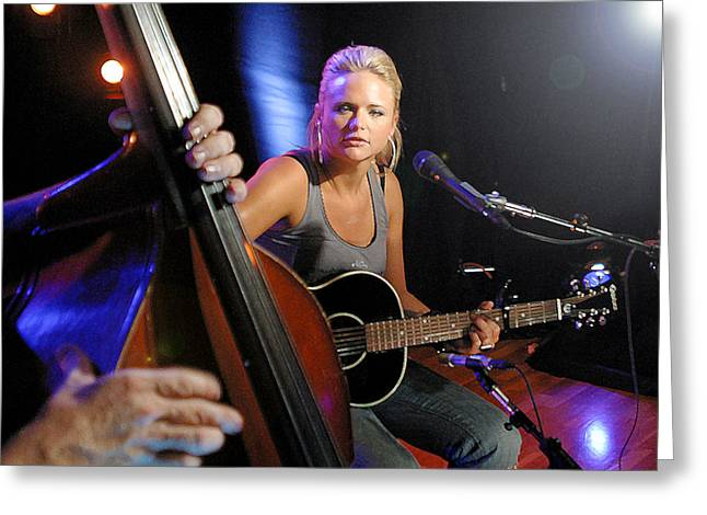 Miranda Lambert Greeting Card by Don Olea