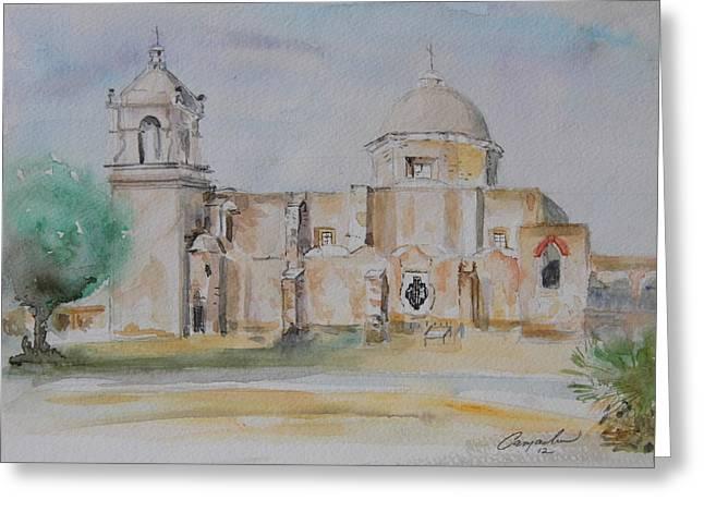 Mission San Jose Greeting Card by David Camacho