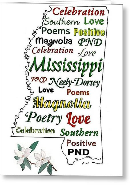 Mississippi Magnolia Love Greeting Card by Patricia Neely-Dorsey
