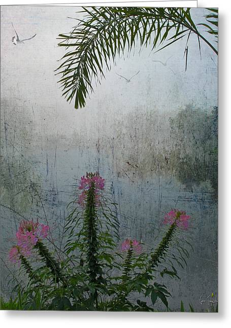 Misty Morning Greeting Card by Gene Tewksbury