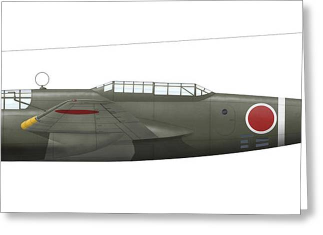 Mitsubishi Ki-21 Bomber Of The Imperial Greeting Card by Inkworm