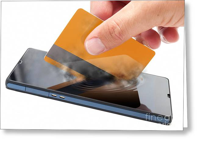 Mobile Payment Greeting Card by Sinisa Botas