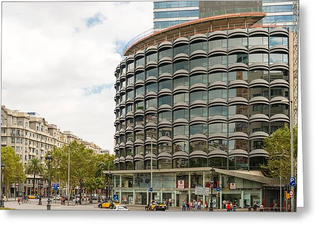 Modern Architecture In Barcelona Spain Greeting Card