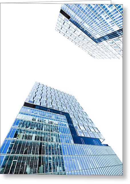 Modern Buildings Greeting Card by Ioan Panaite