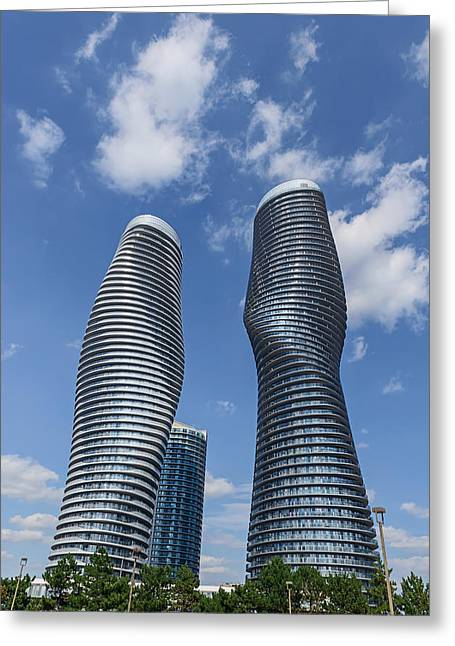 Modern Condos In Mississauga Ontario Canada Greeting Card