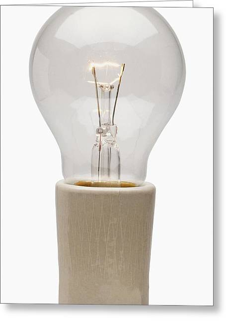 Modern Light Bulb Greeting Card
