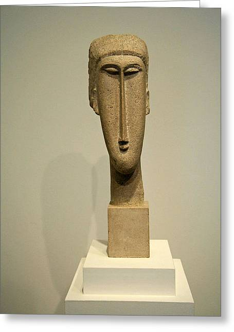 Modigliani's Head Of A Woman Greeting Card