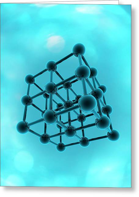 Molecular Model Greeting Card by Victor Habbick Visions
