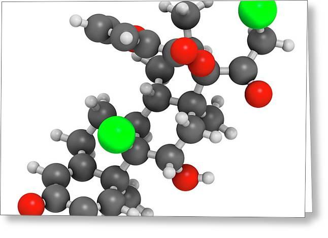 Mometasone Furoate Steroid Drug Molecule Greeting Card