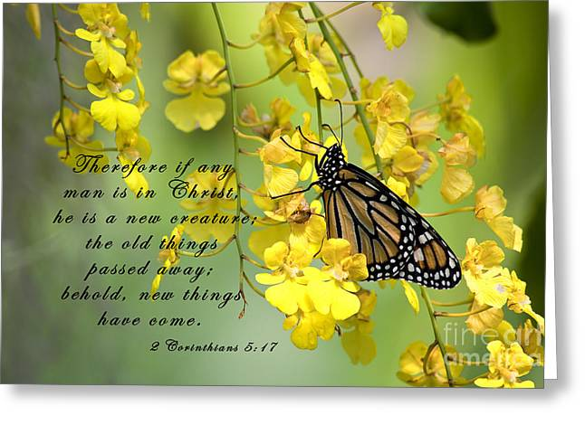 Monarch Butterfly With Scripture Greeting Card