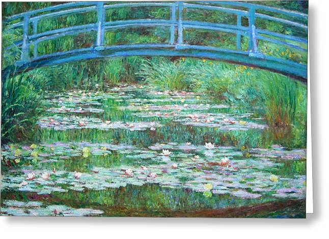 Greeting Card featuring the photograph Monet's The Japanese Footbridge by Cora Wandel